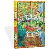 Carnet PAPERBLANKS Ligné - Mini 95x140 mm - modèle Les Manuscrits Estampés série Monet (Le pont), LettreàMorisot