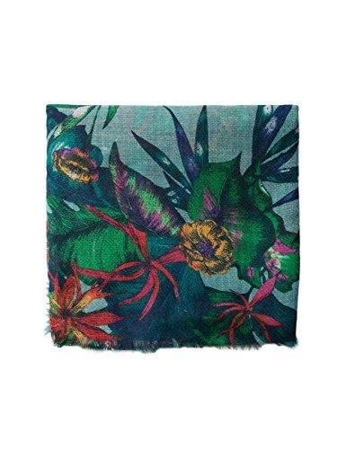 Desigual Damen Schal Foulard_Tropicalia, Grün (Green Paty 4070), One Size (Herstellergröße: U)