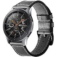 Circle für Samsung Galaxy Watch 46mm Armband,22mm Lederarmband Edelstahl Verschluss Ersatzarmband für 46mm Samsung Galaxy Watch SM-800 / SM-R805