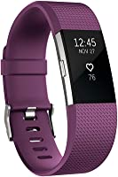 Fitbit Charge 2 Heart Rate & Fitness Wristband, Plum, Large