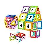 NextX Magnetische Bausteine Magnetspiel Set Pädagogische Bauklötze Spielzeug Konstruktionsspielzeug Geschenk für Kinder (24-Stück)