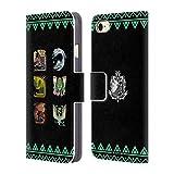 Head Case Designs Offizielle Monster Hunter World Alter Wald Ikonen Brieftasche Handyhülle aus Leder für iPhone 7 / iPhone 8