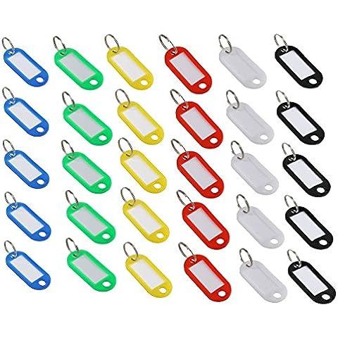 FOXNOVO Color Key badge targhetta nome, Portachiavi con anello portachiavi con etichetta, colori assortiti