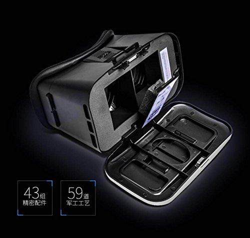 VR Virtuelle Realität 3D VR Gläser Unterstützt Android IOS Miui Baidu Cloud-Betriebssystem 4 ~ 6 Zoll Smartphones,Black