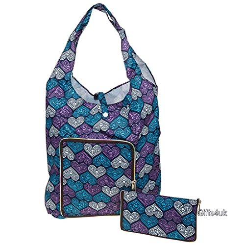 stylish-handybag-re-usable-folding-eco-shopping-bag-various-colours-styles-purple-blue-hearts