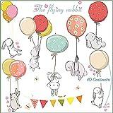 AOOPOO Stickers da Parete Adesivi Muro Cameretta dei Bambini Con Coniglietti Decorazioni Camera da Letto Bimbi Soggiorno Asilo Nido Animali