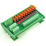 Electronics-Salon DIN Rail Mount 10 Position Power Distribution Fuse Module Board, For AC/DC 5~32V .