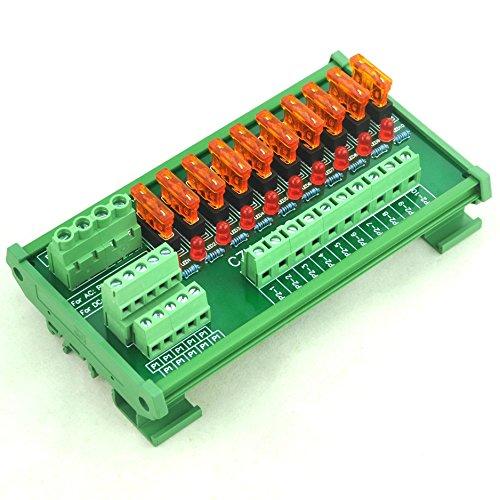 Electronics-Salon DIN-Schienen-Einfassung 10 Positions-Energieverteilungs-Sicherungs-Modul-Brett, für AC / DC 5 ~ 32V. 40a Fuse Terminal