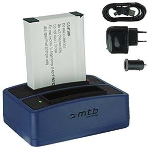 Batterie + Double Chargeur (USB/Auto/Secteur) FXDC02 pour Drift HD Ghost (10-005-00), Ghost-S (10-007-00)