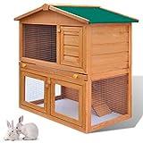 Perchero de Conejo o Conejo para Exterior genérico con Forma de Conejo, para Todo Tipo de Animales, para Mascotas o Conejos, para Transportar jaulas, Puertas, Puertas de Madera, W