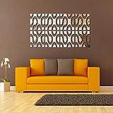 zhenfa Miroir décoratif en Trois Dimensions Bricolage Simple Combinaison Autocollant Gratuit Combinaison Autocollant Fond Murale Decora tive Autocollant...
