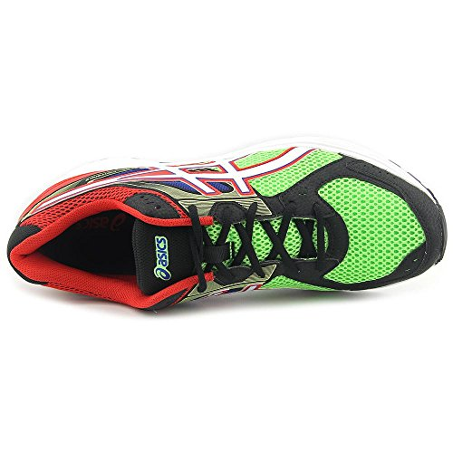 Asics Gel Contend 2 Synthétique Chaussure de Tennis Flash Green-White-Red