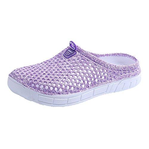 Kootk Donna Slippers Uomo Pantofole Spiaggia Scarpe Traspirante Scivolare su Sandali Adulto Pantofola Zoccoli A Passeggio Giardino Acqua Scarpe Viola