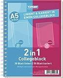Duo-Spiral-Kollegblock, A4, kar./lin., 50/30 Blatt