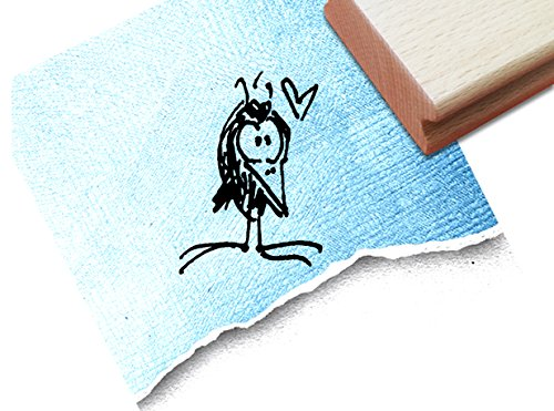 Stempel - Kinderstempel Motiv VOGEL Rabe - Bildstempel Motivstempel Geschenk für Kinder - Kita Schule Einschulung Basteln Deko - von zAcheR-fineT