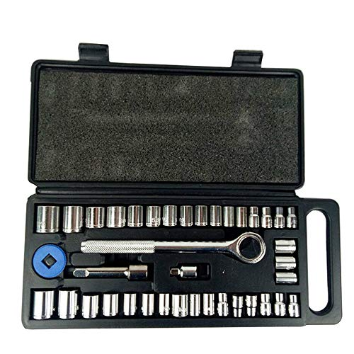 40pcs Socket Set,Drive Ratchet Sockel Wrench Set mit Aufbewahrungsbox,Metric Car Repair Tool Combo Tools Kit for Auto Repairing