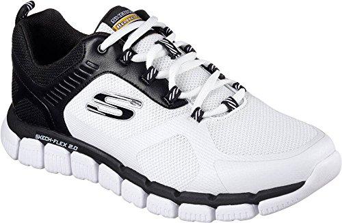 Skechers Scarpe Sportive Da Uomo Skech-flex 2.0 Bianco / Nero Bianco (wbk)