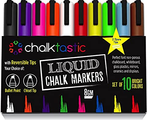 Chalktastic Liquid Chalk Markers 10 Pack of Professional Quality Pens