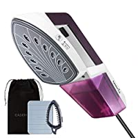 EASEHOLD Handheld Clothes Steamer Garment Steamer 2 in 1 Flat and Vertical Steamer Iron Burning-proof (Purple and White)