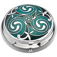 Pillendose mit keltischem Triskele-Motiv grün preisvergleich bei billige-tabletten.eu