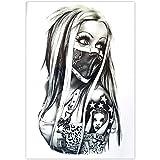 EROSPA® Tattoo-Bogen temporär - Frau Nase Mund verhüllt 20 x