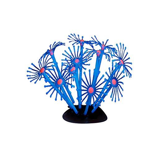 JenK Cing Aquarium Dekoration Korallen Fluoreszenz Ornament für Aquarium Dekoration, Großen Kunststoff Pflanzen Aquarium Aquariumpflanze Fisch Tank Dekoration Künstliche grüne Wasserpflanze (Aquarium Sand Süßwasser-blau)