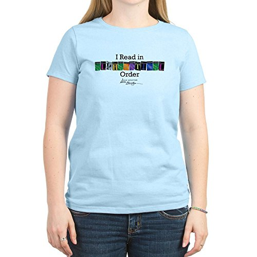 CafePress - I Read in Alphabetical Order T-Shirt - Womens Crew Neck Cotton T-Shirt, Comfortable & Soft Classic Tee