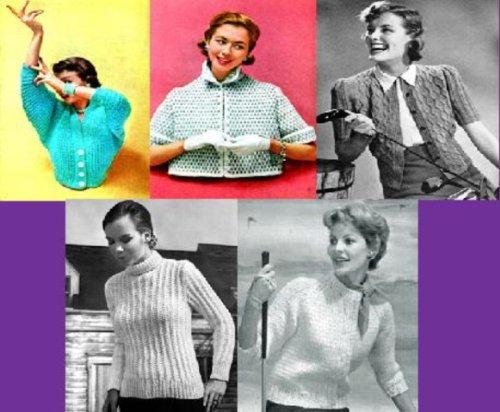 Hermosa Vintage tejer patrones para suéteres de las mujeres por Unknown