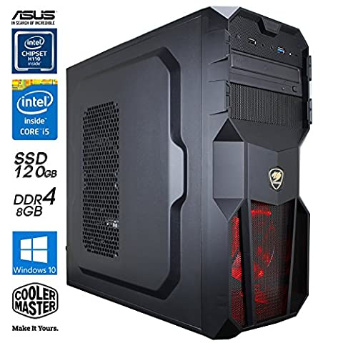 SNOGARD Gaming / Multimedia Computer mit Windows 10   Intel Core i5-7600 Kaby Lake, NVIDIA GeForce GTX 1060 Overclocked, 8GB DDR4 RAM, 1TB HDD + 120 GB SSD + DVD±RW • Gaming-PC Spiele System für