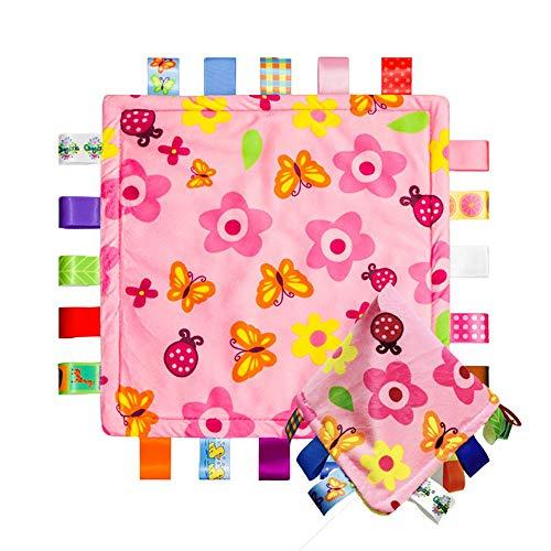 Ericcay Baby Kleinkind Taggy Plüsch Sicherheit Casual Chic Tröster Umbau Decken (Kleine Blumen) 2Er Set Simplicity Classic Mode Style (Color : Colour, Size : Size) -