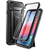 [Sponsored]SUPCASE Full-Body Rugged Holster Case Cover For IPhone XR With Built-in Screen Protector (Black)