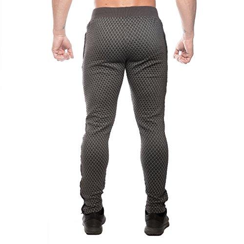 SMILODOX Herren Jogginghose Limited 3.0 | Trainingshose für Sport Fitness Gym | Slim Fit | Sporthose - Jogger Pants - Sweatpants Hosen - Freizeithose Lang Anthrazit Camouflage