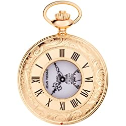 Masonic Pocket Watch Gold Plated Ornate Half Hunter with Masonic Icons
