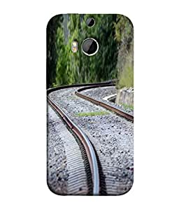 PrintVisa Designer Back Case Cover for HTC One M9 Plus :: HTC One M9+ :: HTC One M9+ Supreme Camera (The Railway Track In The Green Areas Design)