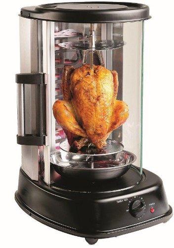 Große Glas-schiebe - (Indoorgrill Grill Master Dönergrill bekannt aus Galileo, Rotisserie-Grill | Hähnchengrill - Schaschlikgrill - vertkaler Grill | der drehbare Grill für Döner Kebab, Gyros oder Broiler)