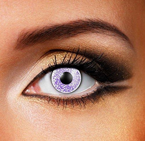 Funky Vision Kontaktlinsen Glimmer - 12 Monatslinsen, Silver, Ohne Sehstärke, 1 Stück