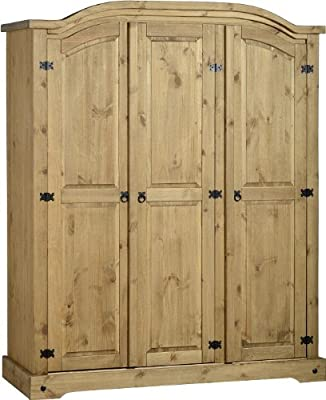 Corona 3-Door Arch Top Wardrobe - low-cost UK wordrobe shop.