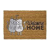 D,casa - Felpudo Original Welcome Home Gatos 40x70 cm