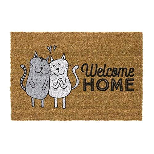 D,casa - Felpudo Original Welcome Home Gatos 40x70