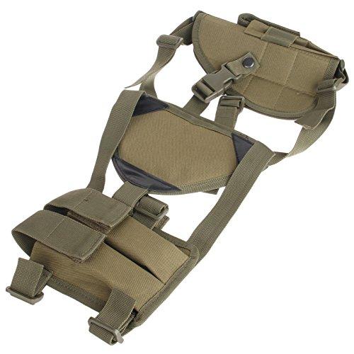 Militär Unterarm Linke und rechte Hand Pistole Schulter Holster Magazintasche-Armee Grün -