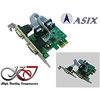 KALEA-INFORMATIQUE - Carte Controleur PCI Express (PCIe) Série RS232 2 Ports - Chipset ASIX - Sélection +5V/+9V sur broches 1 et 9 - Equerres LOW et HIGH PROFILE - WINDOWS LINUX ANDROID