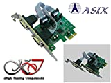 Kalea – Karte CONTROLEUR PCI Express (PCIe) Serie RS232 2 Ports Chipsatz ASIX – Auswahl + 5 V/+ Lader auf Pin 1 und 9 – equerres Low und High Profile – Windows Linux Android