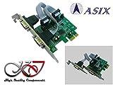 Kalea–Karte CONTROLEUR PCI Express (PCIe) Serie RS2322Ports Chipsatz ASIX–Auswahl + 5V/+ Lader auf Pin 1und 9–equerres Low und High Profile–Windows Linux Android