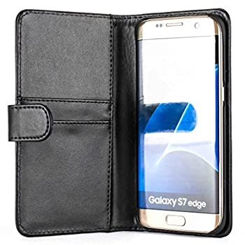 Snakehive® Samsung Galaxy S7 Edge Premium Leather Wallet Flip Case Cover With Credit Card Note Slots For Samsung Galaxy S7 Edge (Black) 2