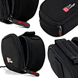 DURAGADGET Black Neoprene Lightweight Zip-Locked Camcorder Carry Case with Accessories Space - Compatible with the CamTours K4 Dashboard Camera