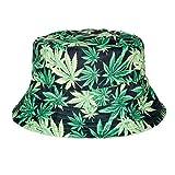 Fischerhut Bucket Hat Sonnenhut Print Hanf Blatt Weed Cannabis
