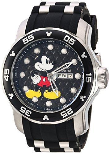 Invicta 23763 Disney Limited Edition - Mickey Mouse Orologio da Uomo acciaio inossidabile Quarzo quadrante nero