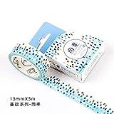 AYYQX Washi Tape Diy Décoration Scrapbooking Planner Ruban Adhésif Étiquette...
