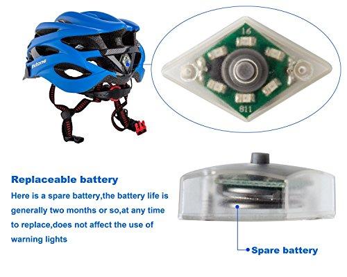 Shinmax Specialized Bike Helm mit Sicherheitslicht, Verstellbare Sport Fahrradhelm Fahrrad Fahrradhelme für Road & Mountain Biking, Motorrad für Erwachsene Männer und Frauen, Jugend – Racing, Sicherheit Schutz (Blau) - 9