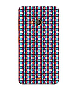 PrintVisa Designer Back Case Cover for Nokia Lumia 730 Dual SIM :: Nokia Lumia 730 Dual SIM RM-1040 (Black blue white purple red)